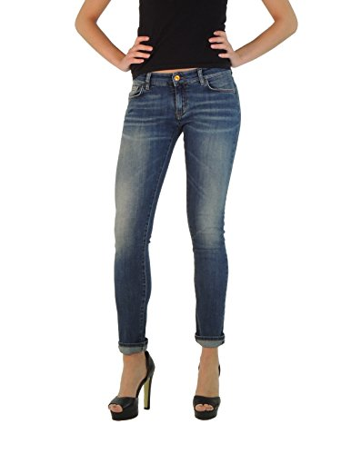 Mauro Grifoni jeans donna effetto invecchiato ZY490295 (26, DENIM)