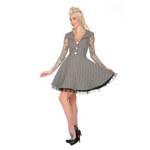 Voodoo Vixen Kleid LUCKY CLOVER DRA2128 black-white S