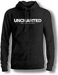 Uncharted - The Lost Legacy Logo Herren Kapuzenpullover - Schwarz