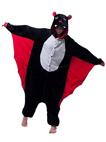 Kenmont Jumpsuit Tier Cartoon Einhorn Pyjama Overall Kostüm Sleepsuit Cosplay Animal Sleepwear für Kinder / Erwachsene (X-Large, (Bat Familie Kostüme)