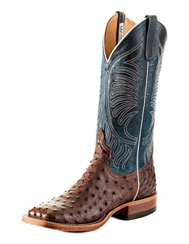 Anderson Bean Western Boots Mens Ostrich Stitching Kango Tabac S3004