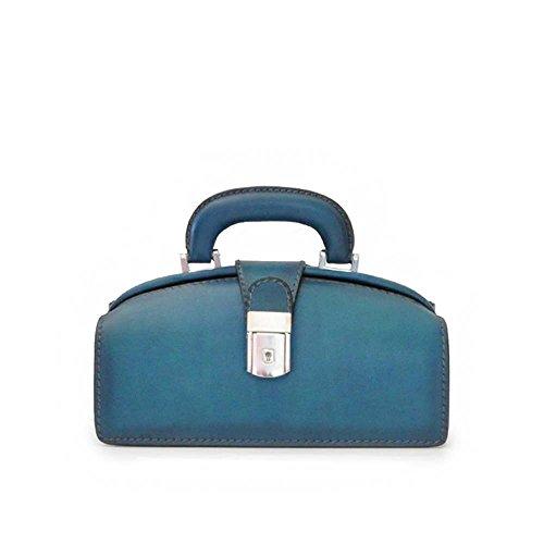 Pratesi Brunelleschi italienische gealterte lederne Aktenkofferarthandtasche (blau) -
