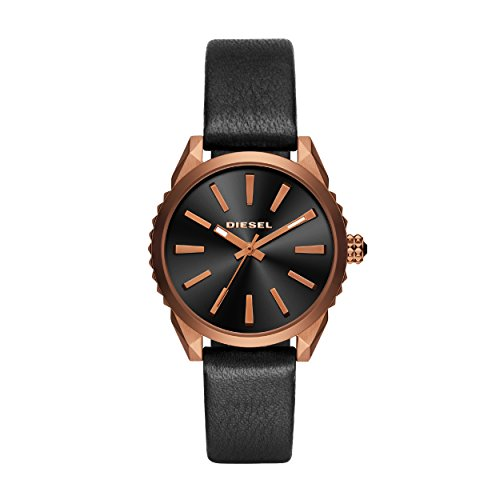 Diesel Women's Analogue Quartz Watch with Leather Strap DZ5559