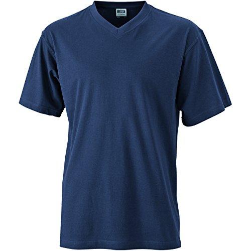 JAMES & NICHOLSON Herren T-Shirt, Einfarbig Marineblau