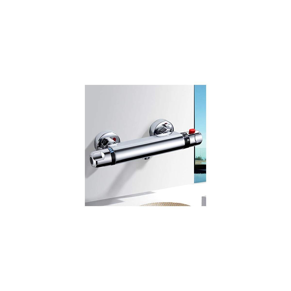 41UBXgDBO3L. SS1200  - Grifo Termostatico Ducha MOCHUAN Termostático Ducha Grifos de Bañera Mezclador Termostático Ducha Moderno Cromo para Baño 20-50 ℃
