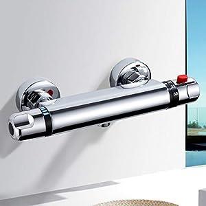 kisimixer Grifo de Ducha Monomando Grifo para ducha con accesorios de Ducha Grifo Mezclador para Ducha Bañera Cromo