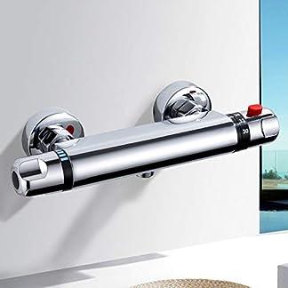 Grifo Termostatico Ducha MOCHUAN Termostático Ducha Grifos de Bañera Mezclador Termostático Ducha Moderno Cromo para Baño 20-50 ℃