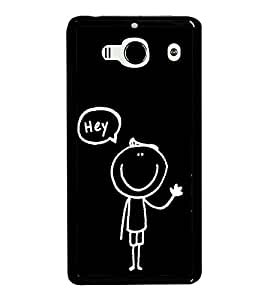 Cute Cartoon 2D Hard Polycarbonate Designer Back Case Cover for Xiaomi Redmi 2S :: Xiaomi Redmi 2 Prime :: Xiaomi Redmi 2