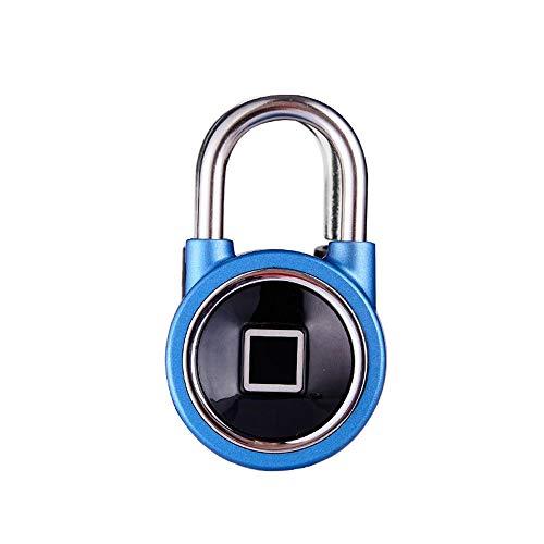 King Smart Lock Mini-Vorhängeschloss Für Smartphones, Entriegelung Von Fingerabdrücken, Entriegelung Mit Fernbedienung, Lager/Tor / Garderobe,Blue