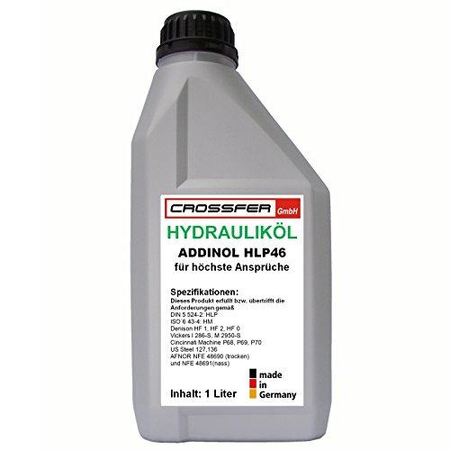 1 Liter Flasche ADDINOL HLP46 Hydrauliköl für Hydraulikpressen, Holzspalter usw. entspricht der DIN 51524-2 und DIN EN ISO 6743-4