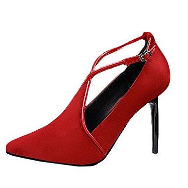Moda Donna Sandali Sexy donna tacchi tacchi Estate Felpa casual Stiletto Heel altri nero / rosso / grigio chiaro / mandorla / Burgundy / Khaki Altri gray