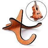 Ansblue, supporto in legno per ukulele pieghevole, strumento musicale staccabile con pezzi a forma di X per chitarra, ukulele, mandolino, banjo e violino, supporto professionale portatile da pavimento