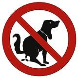 Schild Verbotszeichen Hier kein Hundeklo Alu 20 cm (Hundekot, Hundehaufen, Hundetoilette) wetterfest