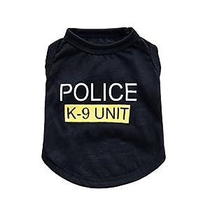 Hunde Kleidung Hundebekleidung Police Cosplay Gelb S M L