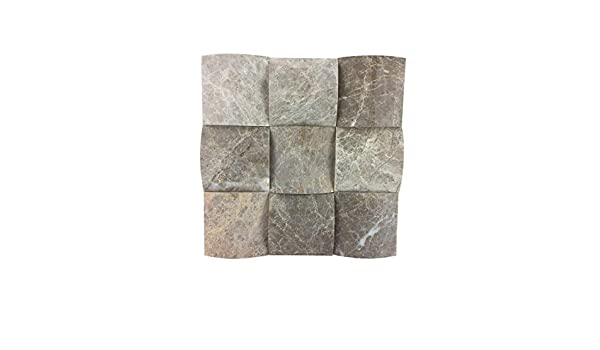 asCountryStone Naturstein Mosaik Rio Silver Rio Silver Alternative zu normalen Fliesen Badezimmer Terasse K/üche