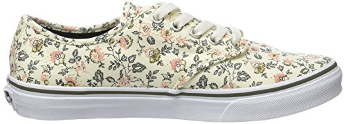 Vans Wm Camden Stripe, Sneakers Basses Femme Ivoire (Vintage Floral Off White/grape)