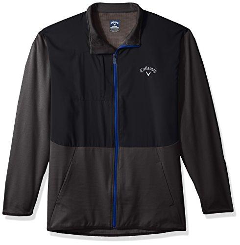 Callaway Men's Big & Tall Opti-Therm Long Sleeve Full-Zip Heathered Waffle Fleece Jacket