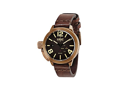 U-Boat Classico Automatic Watch, Bronze, 45mm, Leather strap, 8103