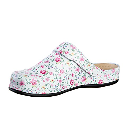 AWC Damen Berufsschuhe Tiefbett, Farbe: Little Pink Flowers, Größe: 39