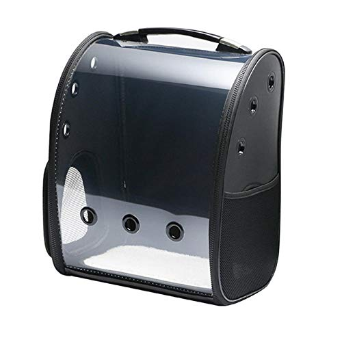 Hisatomo Haustierrucksack New Cat Bag Pet Bag Panorama Transparent Haustierrucksack Space Bag Aus der tragbaren Tasche Hersteller Spot @ Low-Key Schwarz_15 Kg Inside Pet - Low-taschen