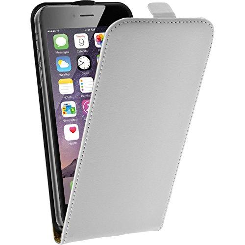 PhoneNatic Kunst-Lederhülle für Apple iPhone 6 Plus / 6s Plus Flip-Case pink Tasche iPhone 6 Plus / 6s Plus Hülle + 2 Schutzfolien Weiß