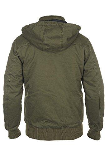 BLEND Ken Herren Winterjacke Jacke mit Stehkragen und abnehmbarer Kapuze aus 100% Baumwolle Ivy Green (77086)
