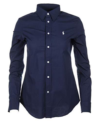 Ralph Lauren Damen Slim Fit Bluse - Pink, Navy, Weiß, Blau gestreift (Navy, S)