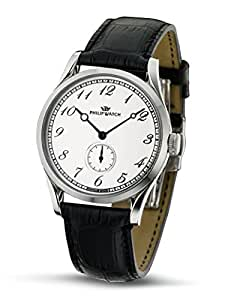Philip Watch Herren-Armbanduhr SUNRAY Analog Quarz Leder R8211180045