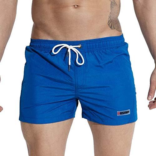 CZYHP Herren Strand Shorts Für Herren Surfbrett Kurze Jogginghose Leicht Dünne Board Strand Shorts L Blau