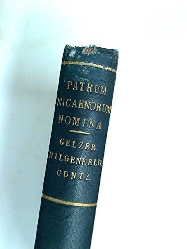 Patrum Nicaenorum Nomina Latine, Graece, Coptic, Syriace, Arabice, Armeniace.