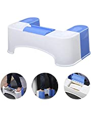 Shuban Plastic Non-Slip Bathroom Western Toilet Foot Stool for Pregnant Women with Tissue Box and Mobile Holder