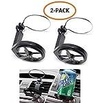 WESEEDOO Portavasos Air Vent Sostenedor de la Bebida del Coche 2-Pack Universal Soporte para latas de Bebidas para automóviles para Autos, SUVs y Camiones (Negro)