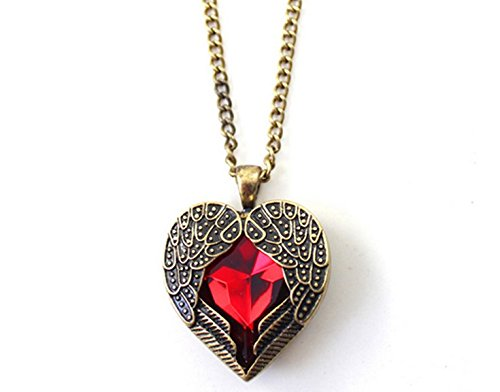 cargomix-vintage-chain-necklace-jewelry-chain-with-red-heart-gemstone-angel-wings-pendant