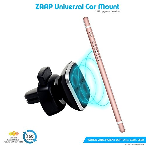 zaap® (usa) magnetic touch one (3rd generation) premium car mount/desk mount/air vent mount/car mobile holder [award winning-made in korea]. universal compatible for smartphones with 360 degree rotation & fully adjustable view. perfect for cars & desks. mobile holder (black, car accessories) ZAAP® (USA) MAGNETIC TOUCH ONE (3rd Generation) Premium Car Mount/Desk Mount/Air vent Mount/Car mobile holder [Award winning-Made in Korea]. Universal compatible for Smartphones with 360 degree rotation & fully adjustable view. Perfect for Cars & desks. Mobile holder (Black, Car accessories) 41UBePRoS7L