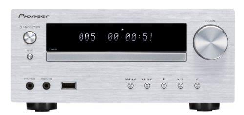 Pioneer XC-HM51-S Micro-Hifi System ohne Lautsprecher (Bluetooth, FM Tuner mit RDS, USB 2.0, Aluminium-Front) silber Ipod Lautsprecher Mit Ladefunktion Cd-player