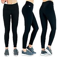 Formbelt Laufhose Damen mit Tasche lang - Leggins Stretch-Hose Lauf-Tights für Smartphone iPhone Handy Schlüssel Yoga