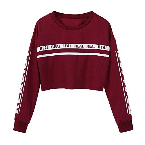 Geili Damen Sweatshirt Damen, O-Ausschnitt Pullover Frauen Langarm -