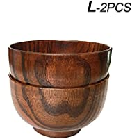 HoneyHome Handmade Jujube Solid Wood Bowl for