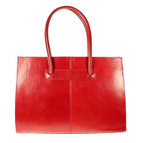 Vera Pelle , Cabas pour femme rouge grand rouge