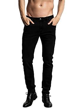 Skinny Jeans Herren - ZLZ Herren Enge geeignete Dehnbare Slim Jeanshose