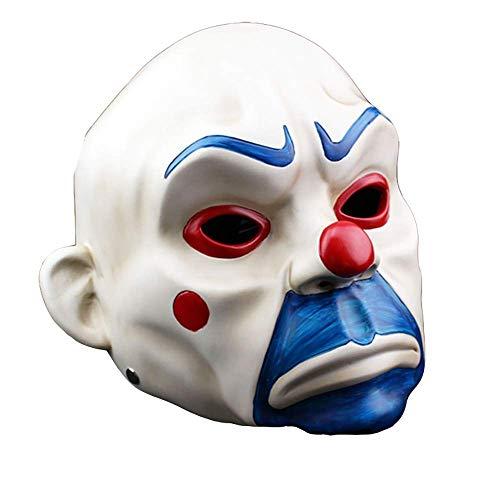 Das Ziel Joker Kostüm - FQCD Halloween Maske Resin Knight Joker Erwachsenen Clown Cosplay Maske
