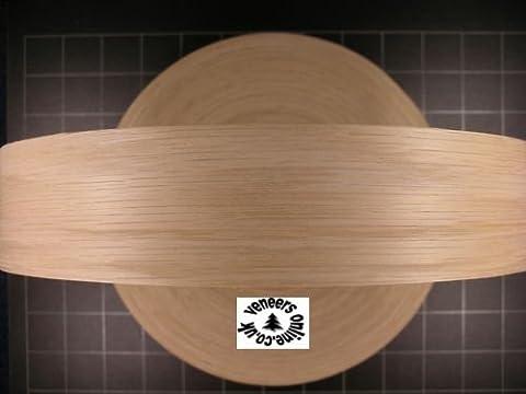 Iron-on Pre-Glued OAK Real Wood Veneer Edging 50mm wide, 10 Metres by Veneers Online Iron-on Edging