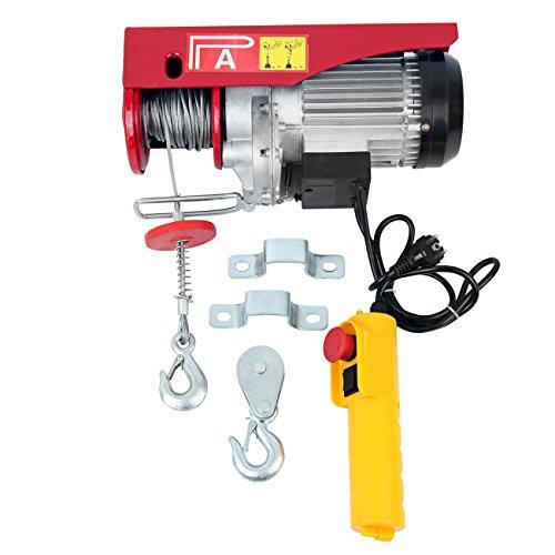 Samger Eléctrico Cable Elevador de elevación 300 / 600KG Capacidad Controlar Garaje Auto tienda Gastos generales Levantar 220v 1200W