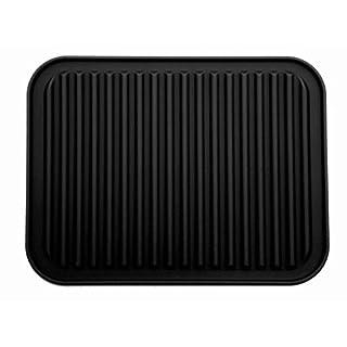2 Stück schwarze Silikon-Topflappen, Untersetzer-Matte, wasserdicht, Wärmeisolierung, rutschfest, Geschirr-Unterlage, Untersetzer, 22,8 x 30,4 cm. 1*Black