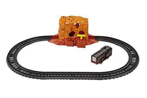 TRENINO THOMAS- Esplosione nella Miniera, Playset Pista Treni Elettrici Giocattolo, Track Master, FJK24