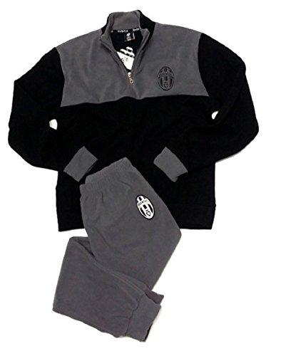 Pigiama ragazzo Juve in pile Abbigliamento originale Juventus *24787-12 anni-nero