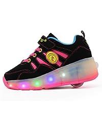 Los nuevos niños del invierno Heelys zapatos de niña zapatos del rodillo sola rueda patines niño con ruedas Baozou zapatos para adultos