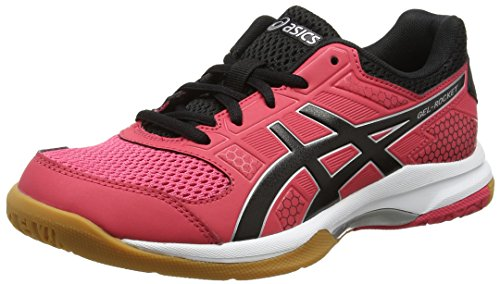 Asics Gel-Rocket 8, Zapatillas de Voleibol para Mujer, Rosa (Rouge Red/Black/White 1990), 41.5 EU