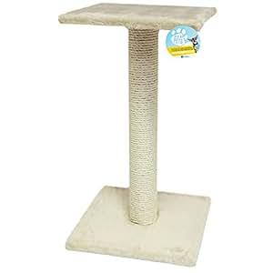 Me & My Large Beige Sisal Cat Scratching Post & Platform