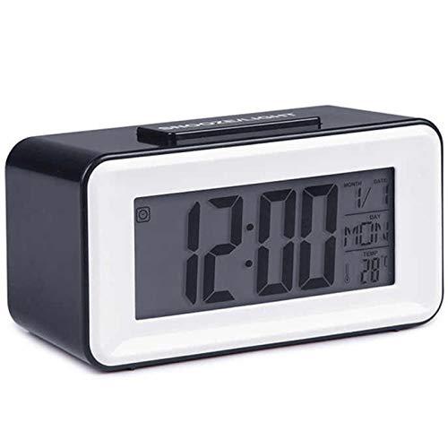 Naliovker Despertadores Led Digitales Relojes de Estudiantes con Reposo de la Semana Reloj TermóMetro...